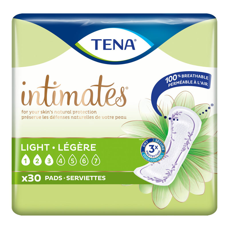 Tena Intimates Fresh & Clean Pads - Ultra Thins - 30's