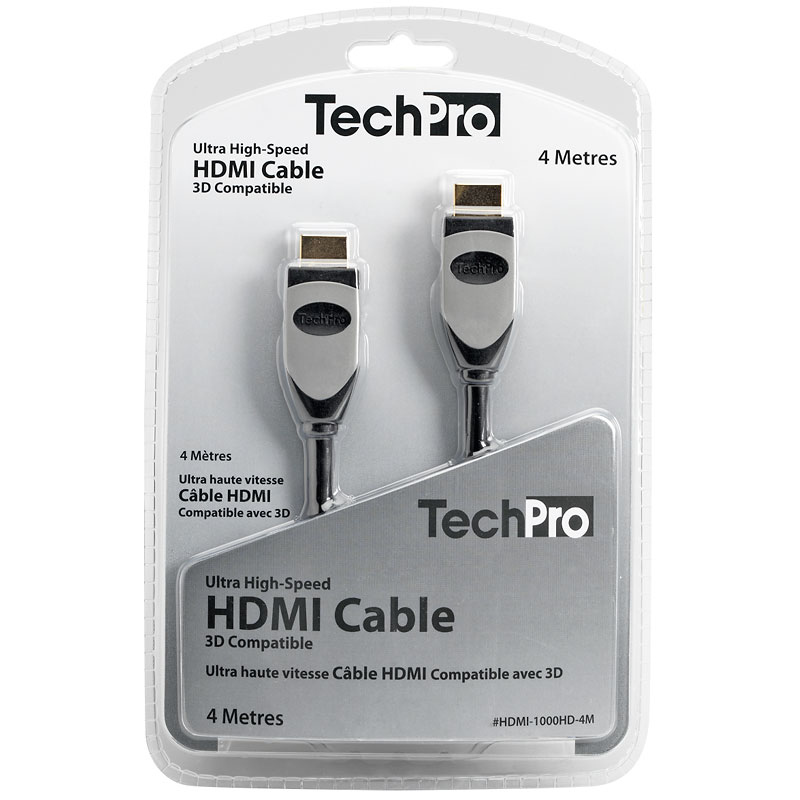 TechPro Ultra High-Speed HDMI Cable - 3D Compatible - 4 m
