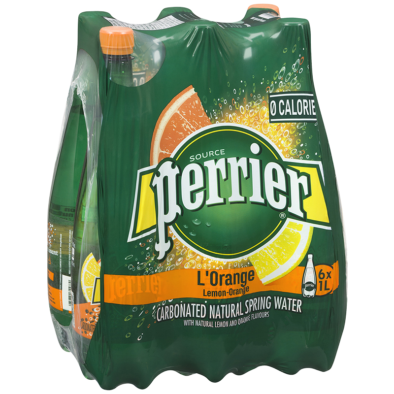 Perrier Sparkling Water Case - L'Orange - 6 x 1L