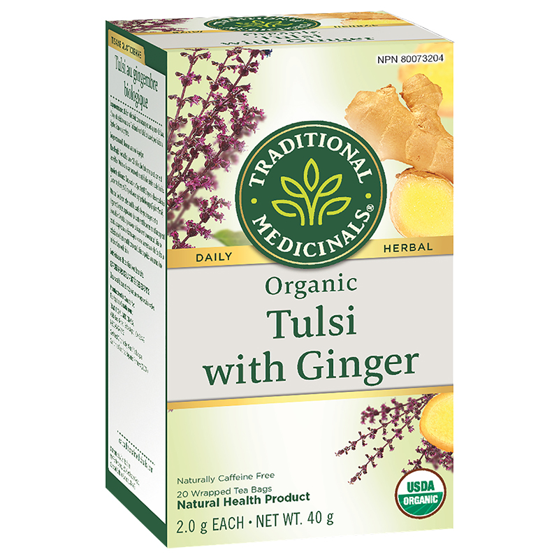 Traditional Medicinals Tea - Tulsi with Ginger - 20's
