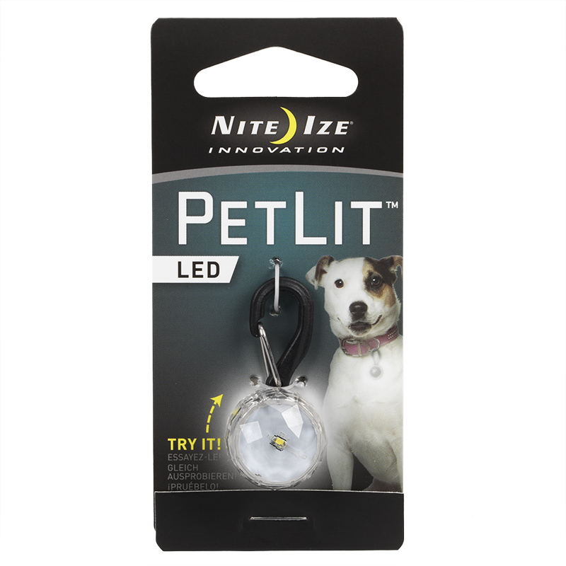 Nite Ize PetLit Collar Light - Crystal White