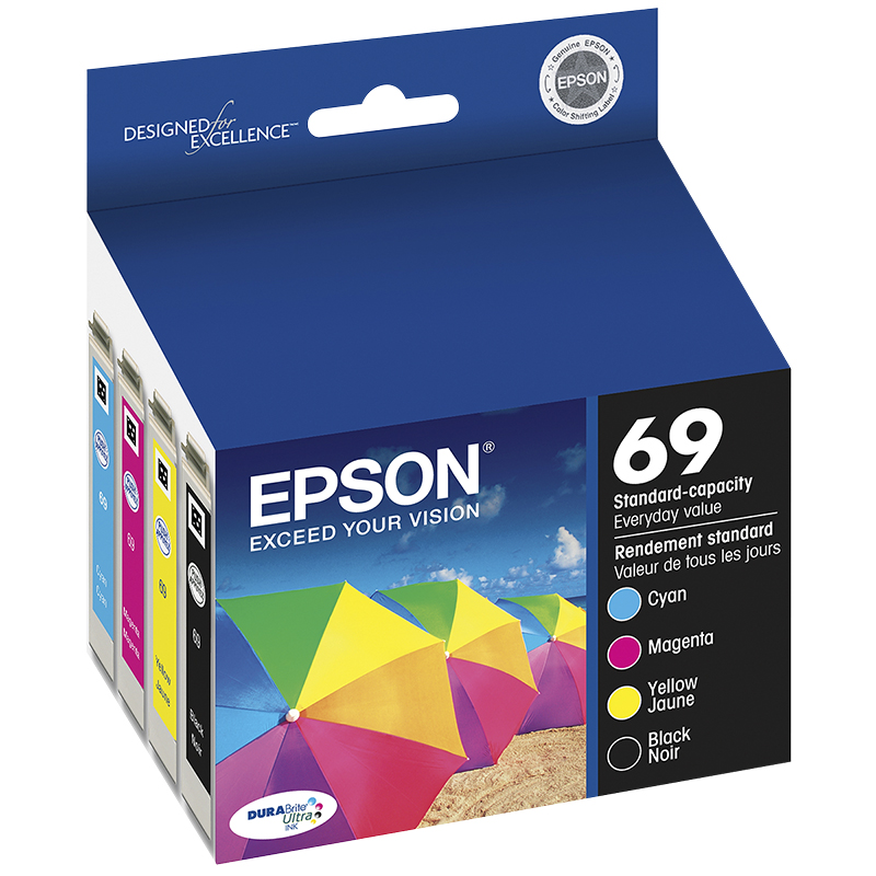 Epson 69 Durabrite Ultra Ink 69 Standard-Capacity Ink Cartridge - Colour Multi-pack - T069120-BCS