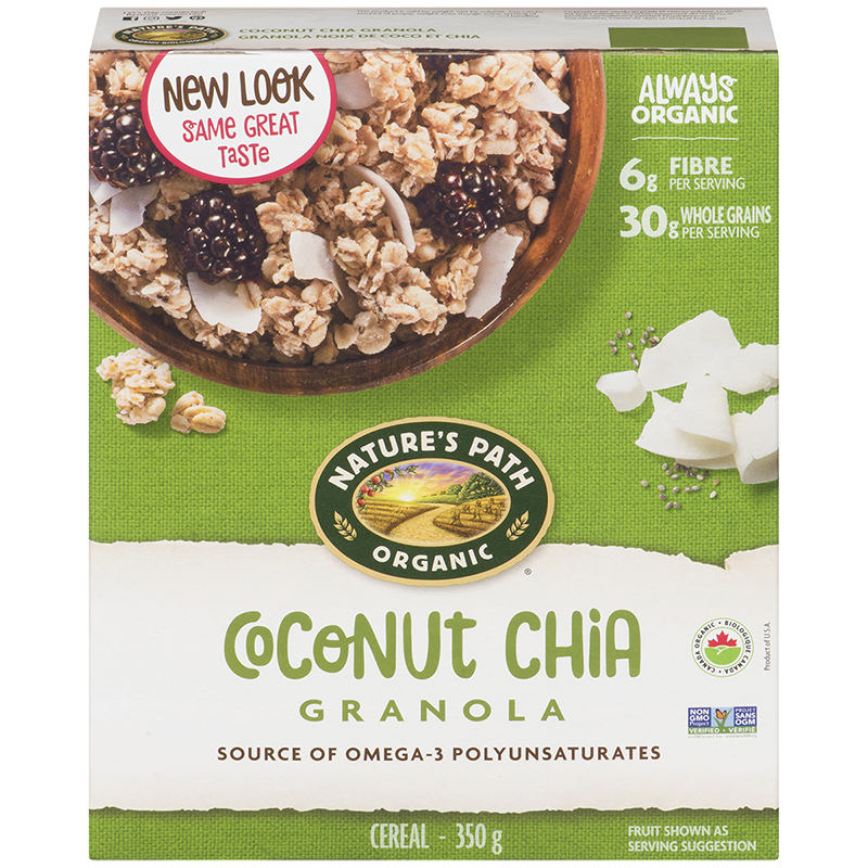 Nature's Path Organic Chia Plus Granola - Coconut Chia - 350g