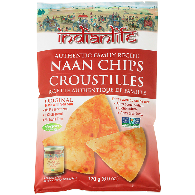 Indian Life Naan Chips - Original - 170g
