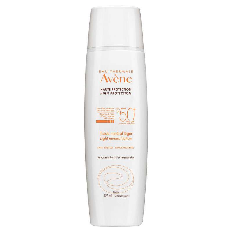 Avene Light Mineral Lotion SPF 50+ for Face & Body - 125ml