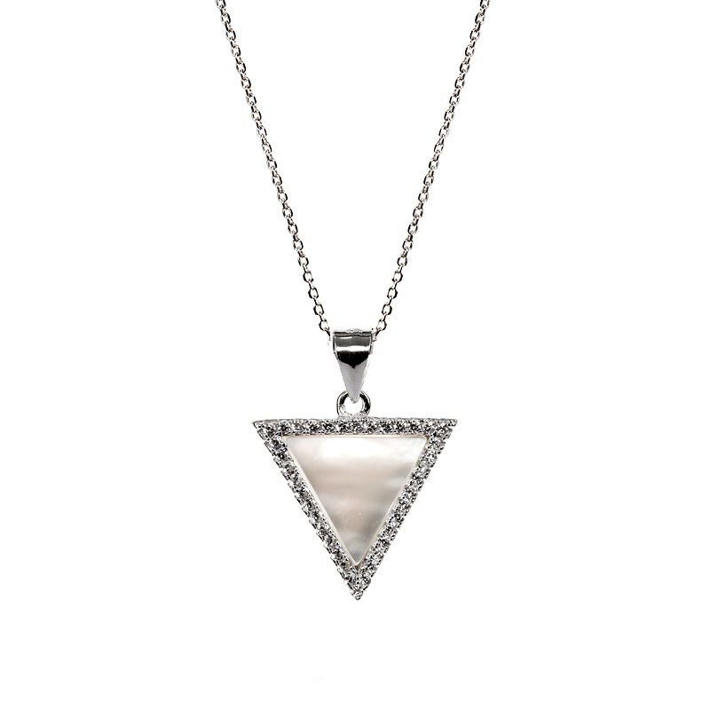 Charisma Stainless Steel Tri Pendant Necklace