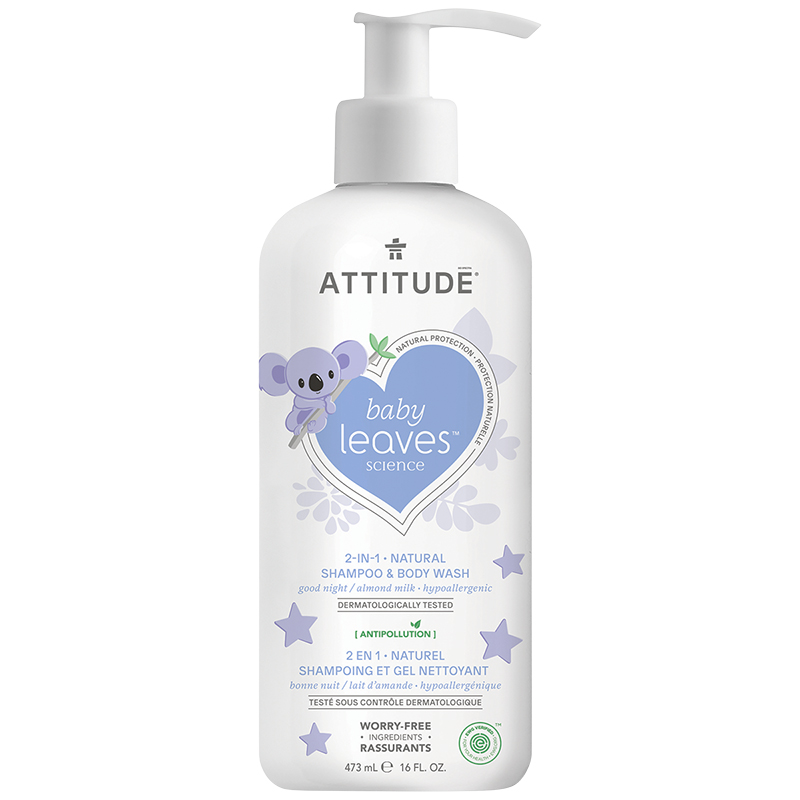 Attitude Baby Leaves 2-in-1 Natural Shampoo And Body Wash - Almond Milk - 473ml