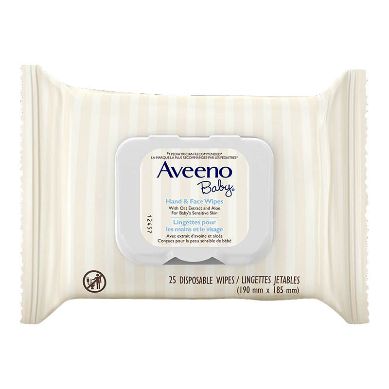 Aveeno Baby Hand And Face Wipes - 25's