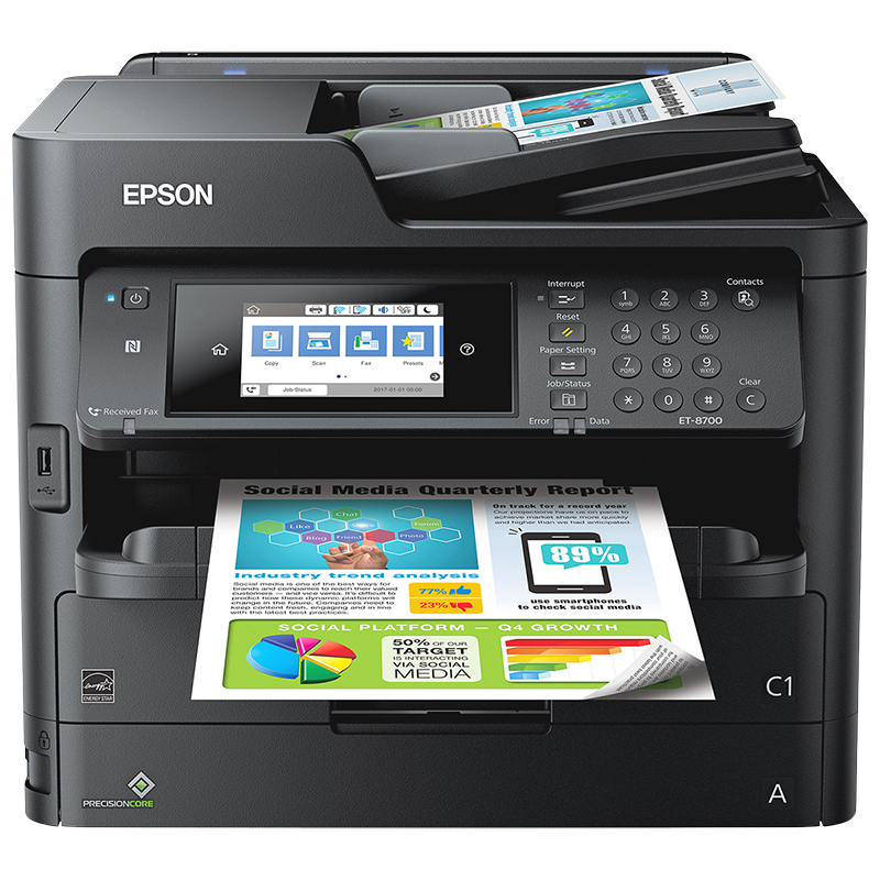 Epson Workforce Pro ET-8700 EcoTank All-in-One Supertank Printer - C11CG39201L
