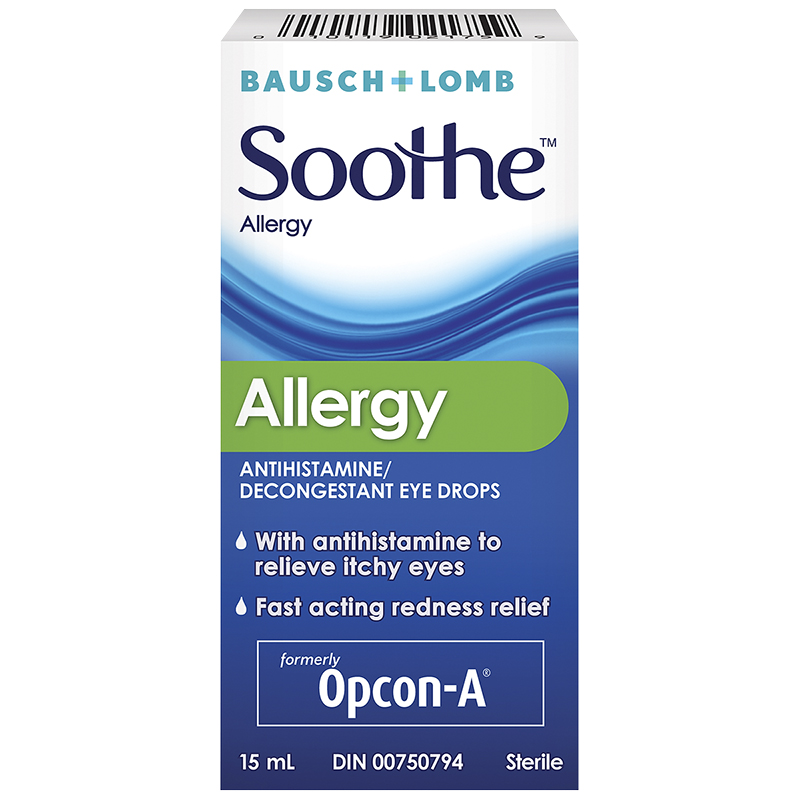 Allergy Eye Drops >> Bausch Lomb Soothe Allergy Decongestant Eye Drops 15ml
