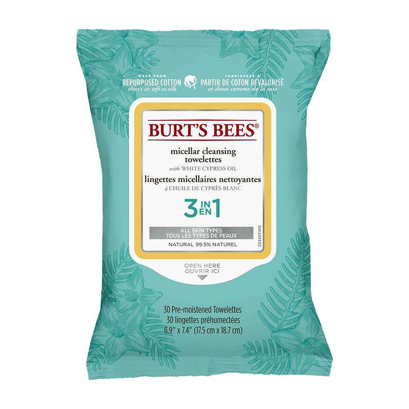 Burt's Bees 3-in-1 Micellar Cleansing Towelettes - 30's