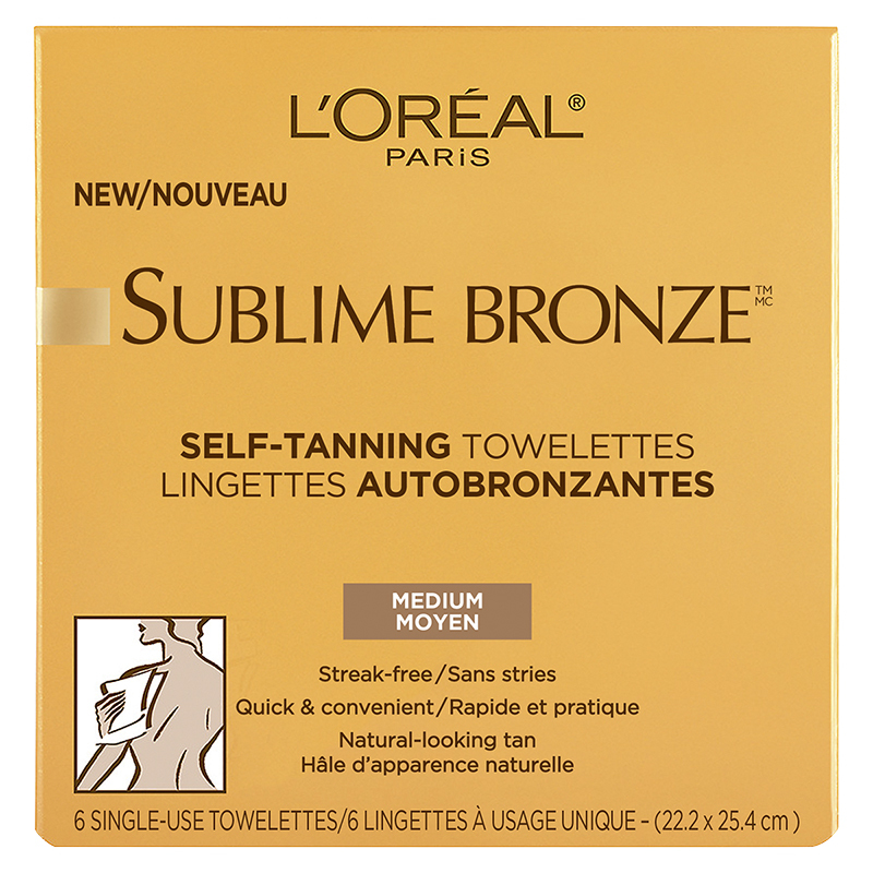L'Oreal Sublime Bronze Self-Tanning Towelettes - 6's