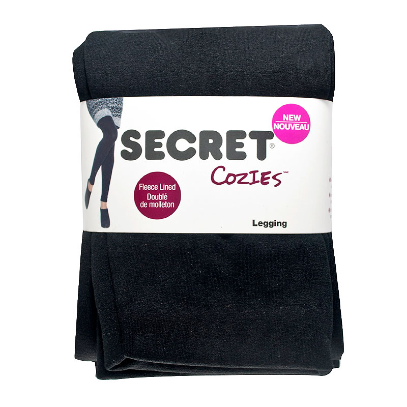 Secret Cozies Fleece Leggings - Black - S/M