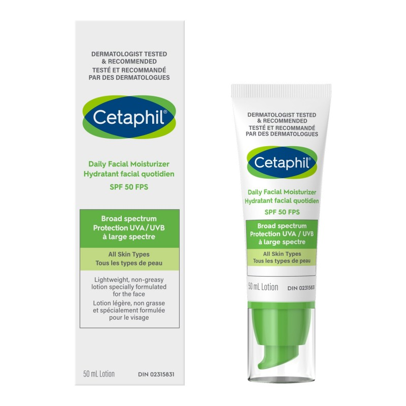 Cetaphil SPF 50 Daily Facial Moisturizer - 50ml