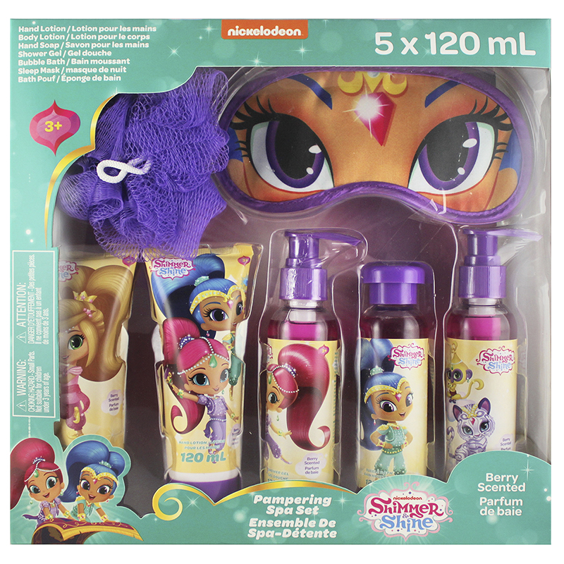 Shimmer & Shine Pampering Spa Set - 5 x 120ml