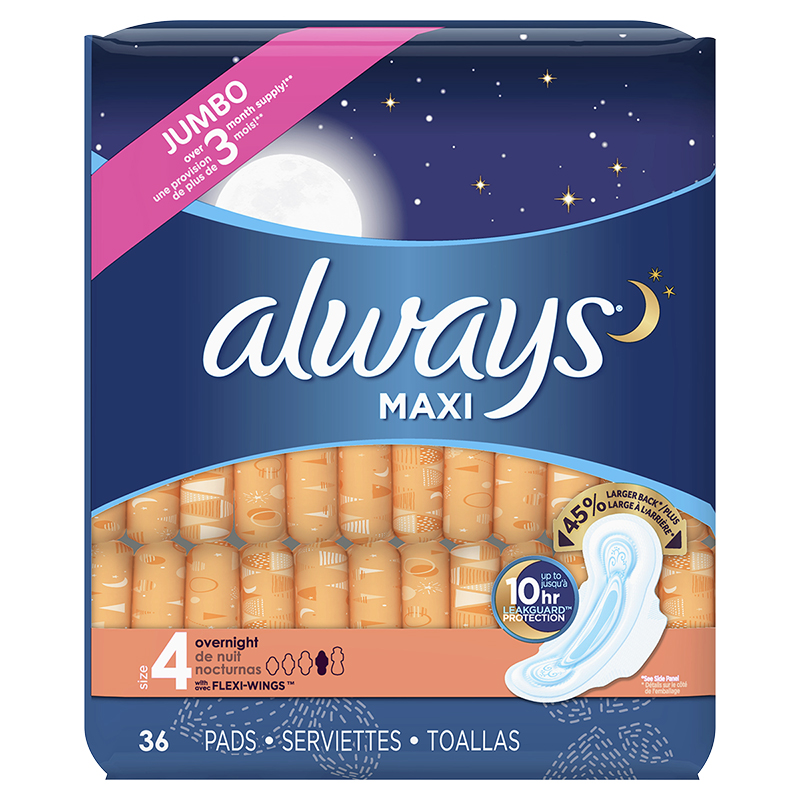 Always Maxi Overnight - Size 4 - 36's
