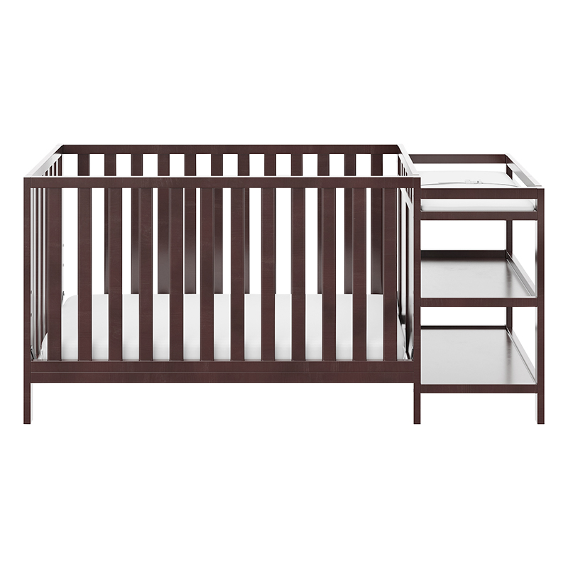 Storkcraft Pacific 4-in-1 Convertible Crib And Changer - Espresso - 04585-109