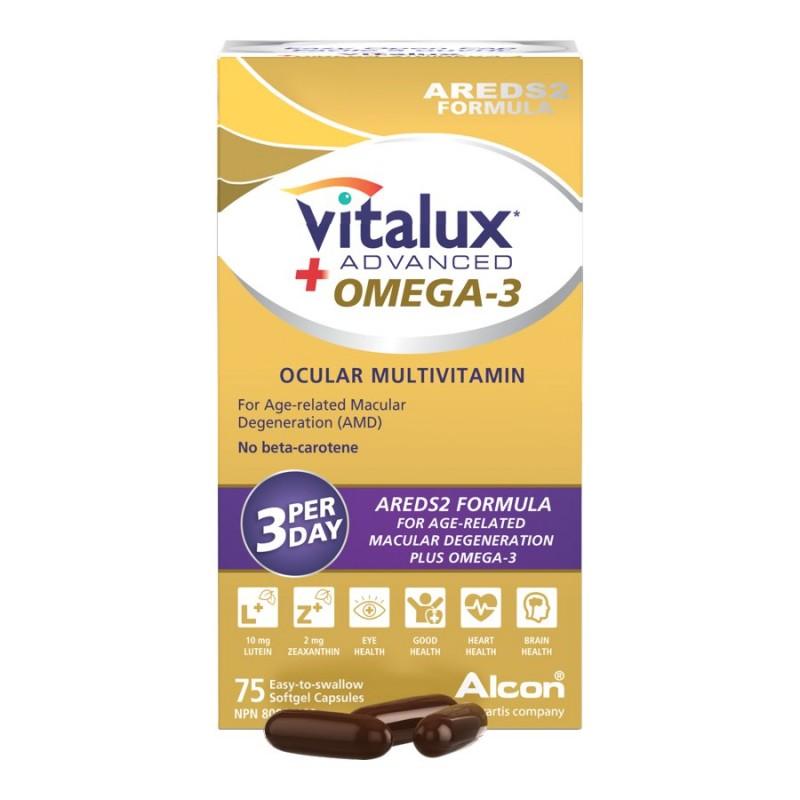 Vitalux Advanced + Omega 3 Ocular Multivitamin - 75's..