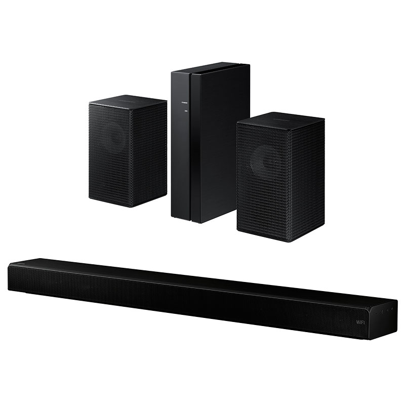 Samsung Sound+ Soundbar HWMS650 + Rear Speaker Kit SWA9000S Package - PKG #12408