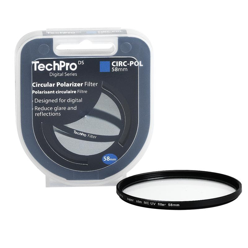 TechPro DS 58mm Circular Polarizer Filter - FIMSCPBL58-CB
