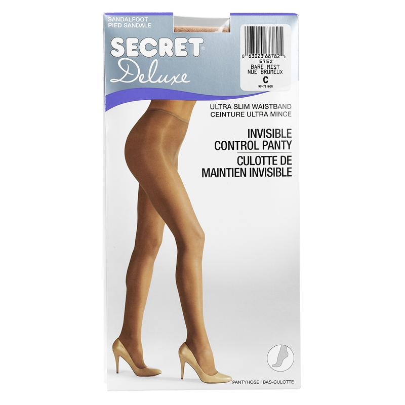 Secret Deluxe Reveal In-Control Pantyhose - C - Bare Mist