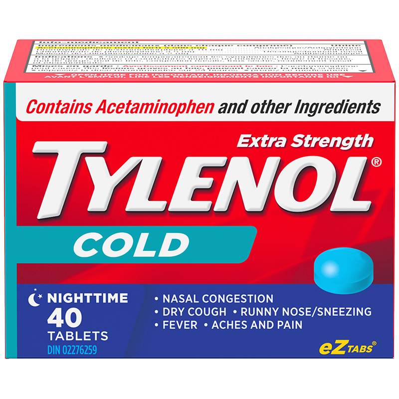 Tylenol* Cold Nighttime - Extra Strength - 40 cool burst tablets
