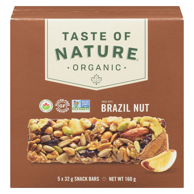 Taste Of Nature Organic Food Bar Brazilian Nut Fiesta 5x32g
