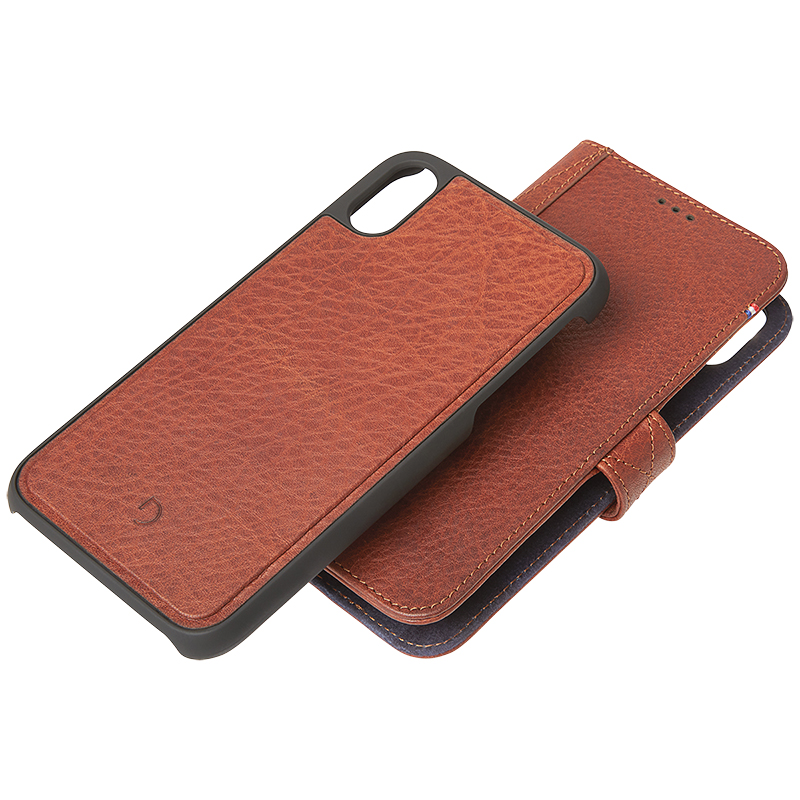 Decoded 2-in-1 Leather Wallet Case for iPhone X/Xs - Cinn. Brown - DCD8IPO58DW1CBN