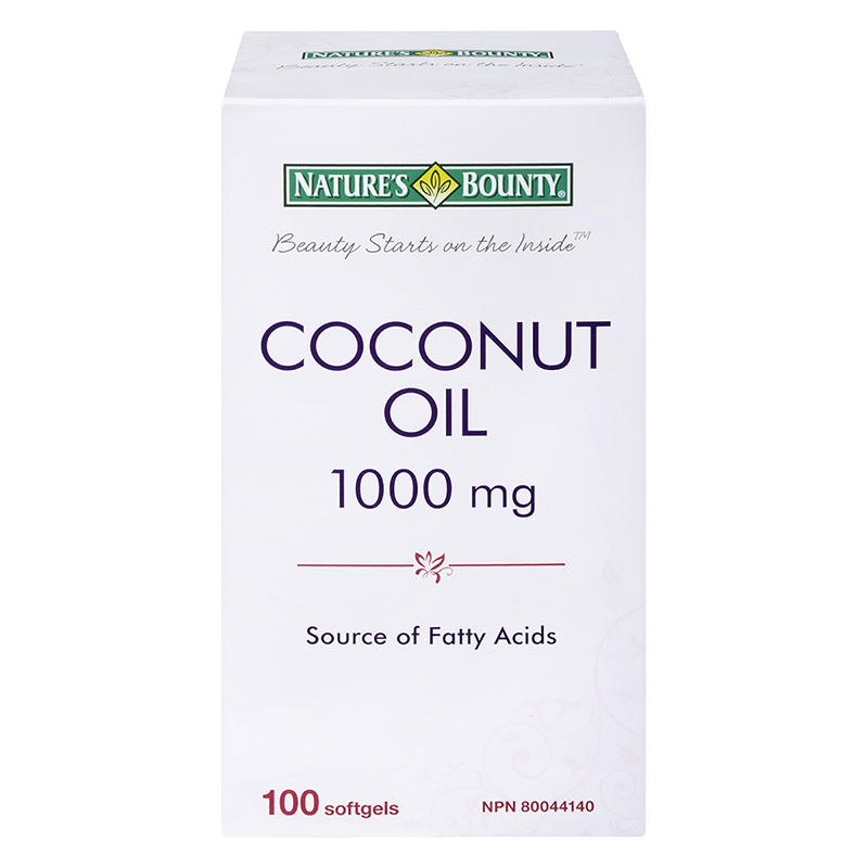 Nature's Bounty Coconut Oil Softgels - 1000mg - 100's