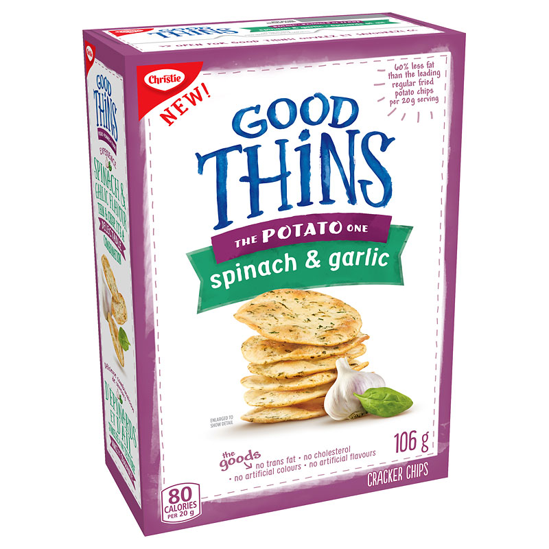 Christie Good Thins The Potato  One - Spinach & Garlic - 106g