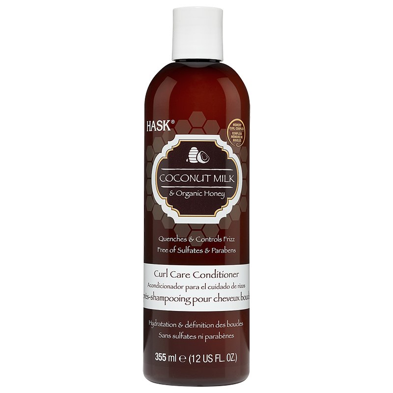 Hask Coconut Milk & Organic Honey Curl Care Conditioner - 355ml