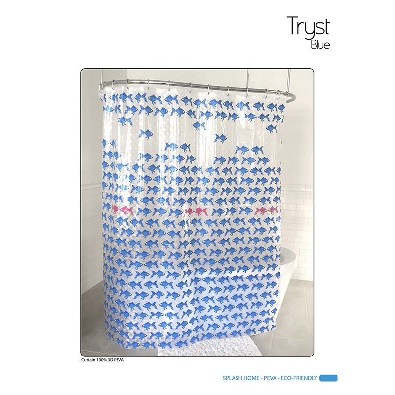 Splash Vinyl Shower Curtain - Tryst