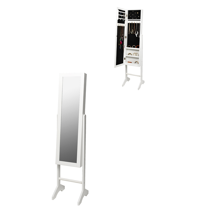 London Drugs Mirror & Jewellery Cabinet - White - AV8571WH