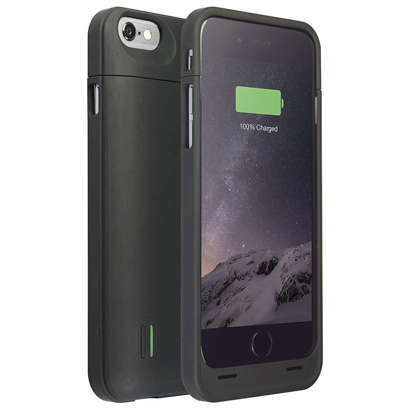 Logiix Piston Power Go Battery Case for iPhone 6 - Black - LGX11995