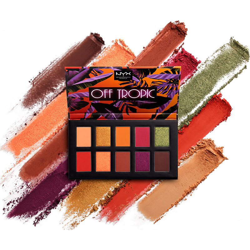 NYX Professional Makeup Off Tropic Shadow Palette - Shifting Sand