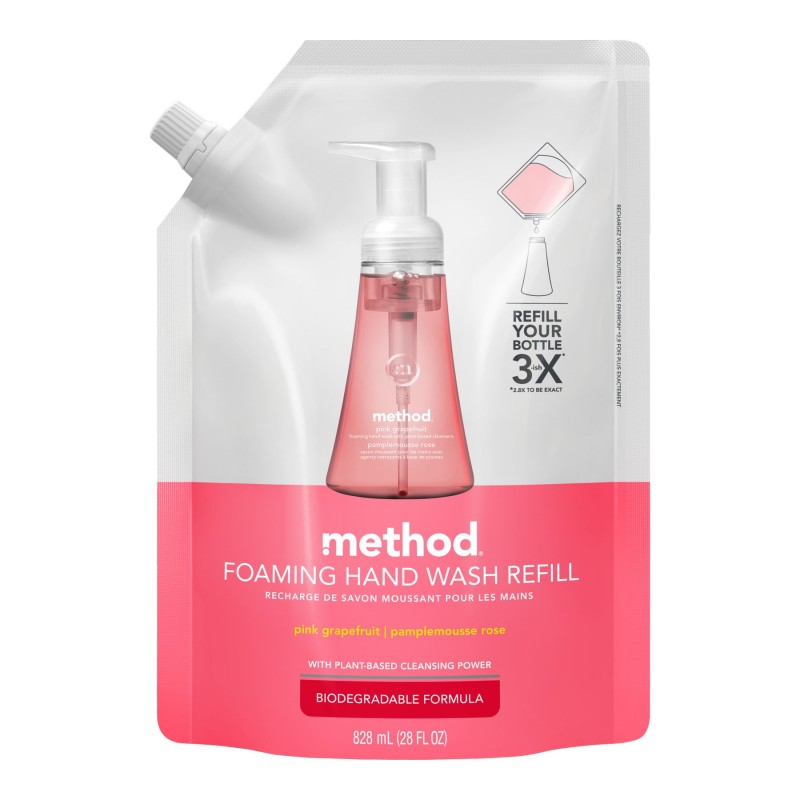 Method Foam Hand Wash Refill - Pink Grapefruit - 828ml