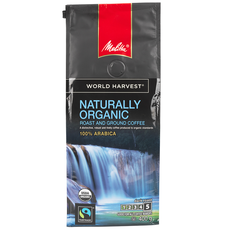 Melitta World Harvest Coffee - Medium Roast - Organic Ground - 454g