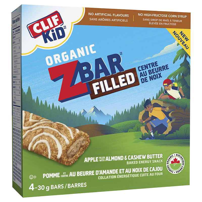 Clif Kid Organic Zbar - Apple Almond Butter - 4 Pack