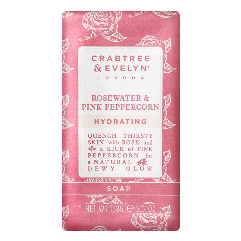 Crabtree & Evelyn Rosewater & Pink Peppercorn Hydrating Soap - 158g