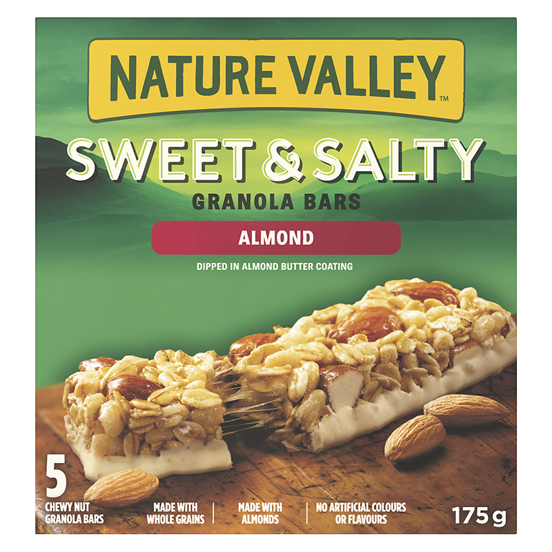 Nature Valley Sweet & Salty Chewy Nut Bars - Almond - 175g / 5 pack