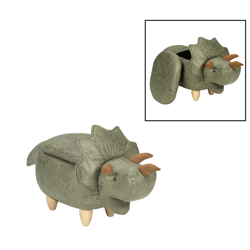 London Drugs Animal Footstool with Storage - Triceratops