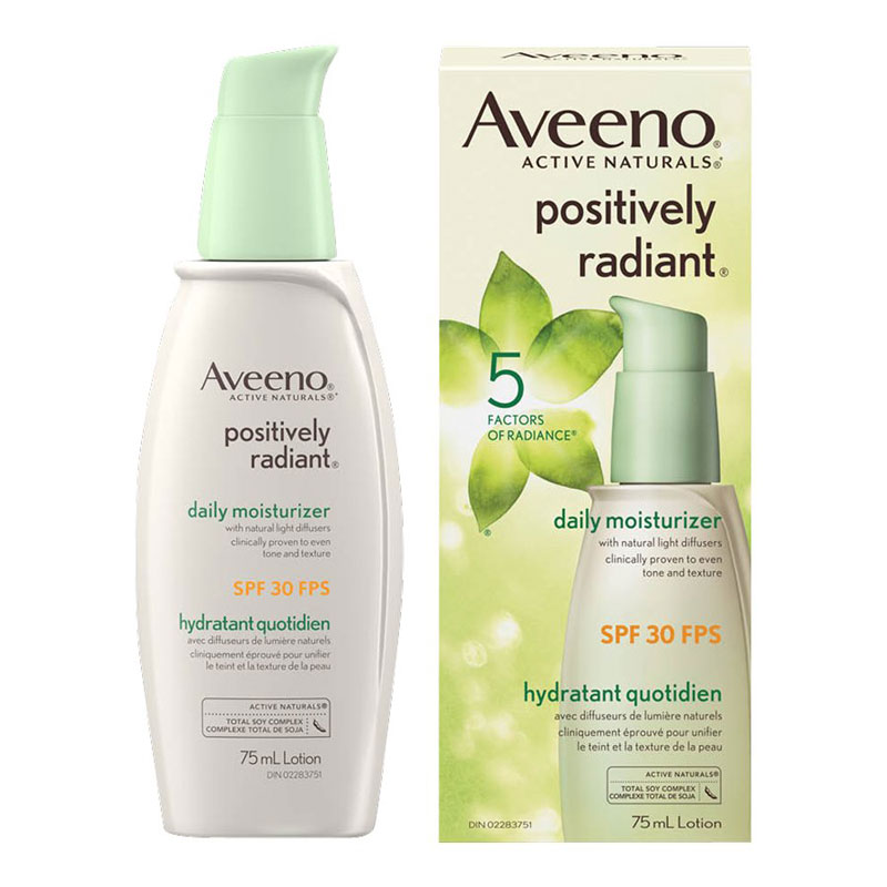 Aveeno Active Naturals Positively Radiant Daily Moisturizer - SPF 30 - 75ml