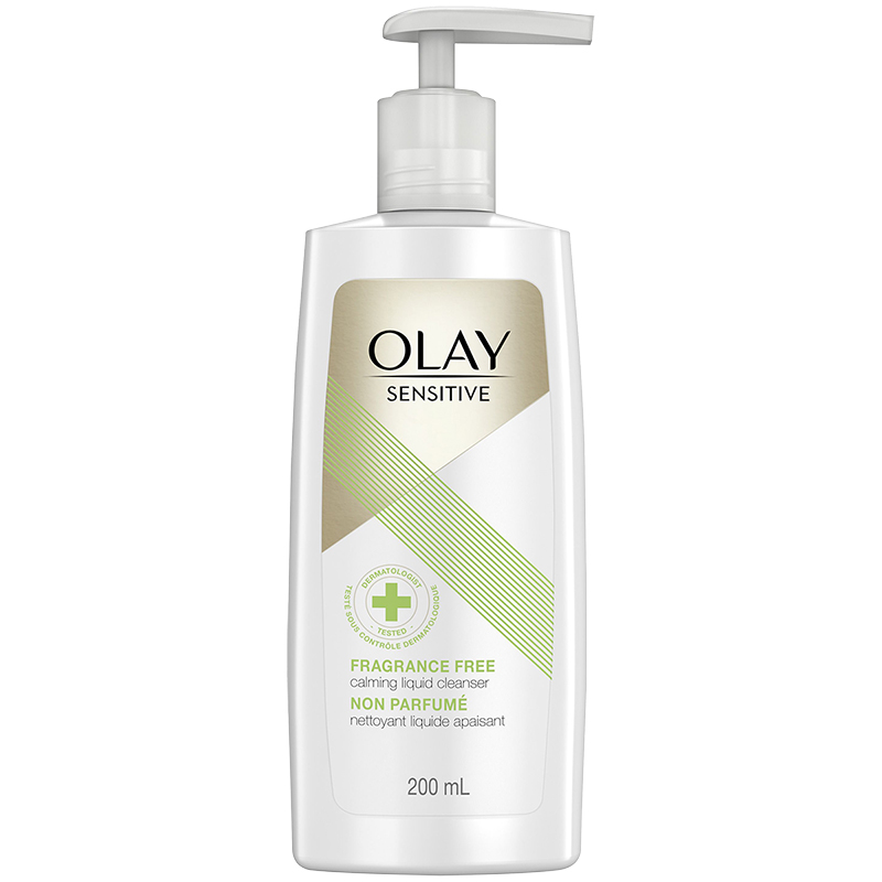 Olay Sensitive Calming Liquid Cleanser - Fragrance Free - 200ml