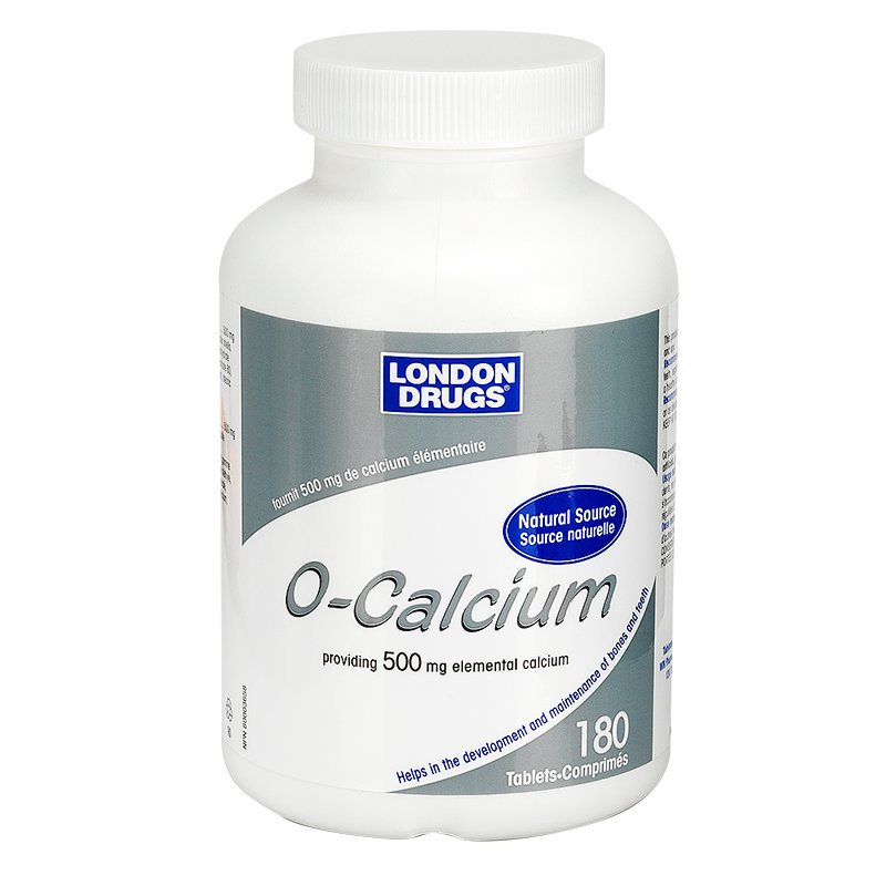 London Drugs O-Calcium - 500mg - 180's