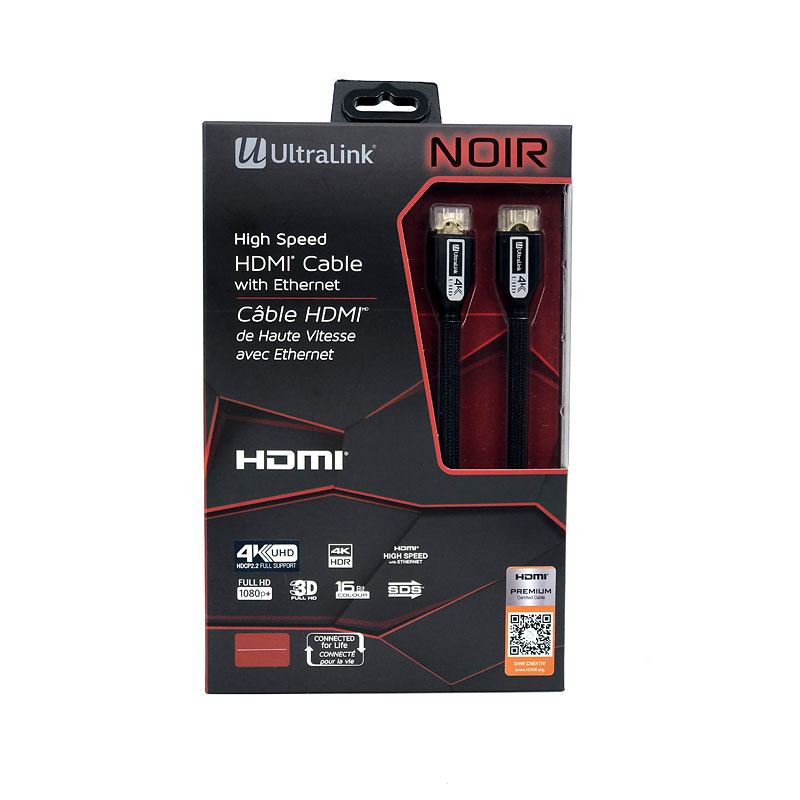 UltraLink Noir HDMI Cable - 3m - ULN3MP