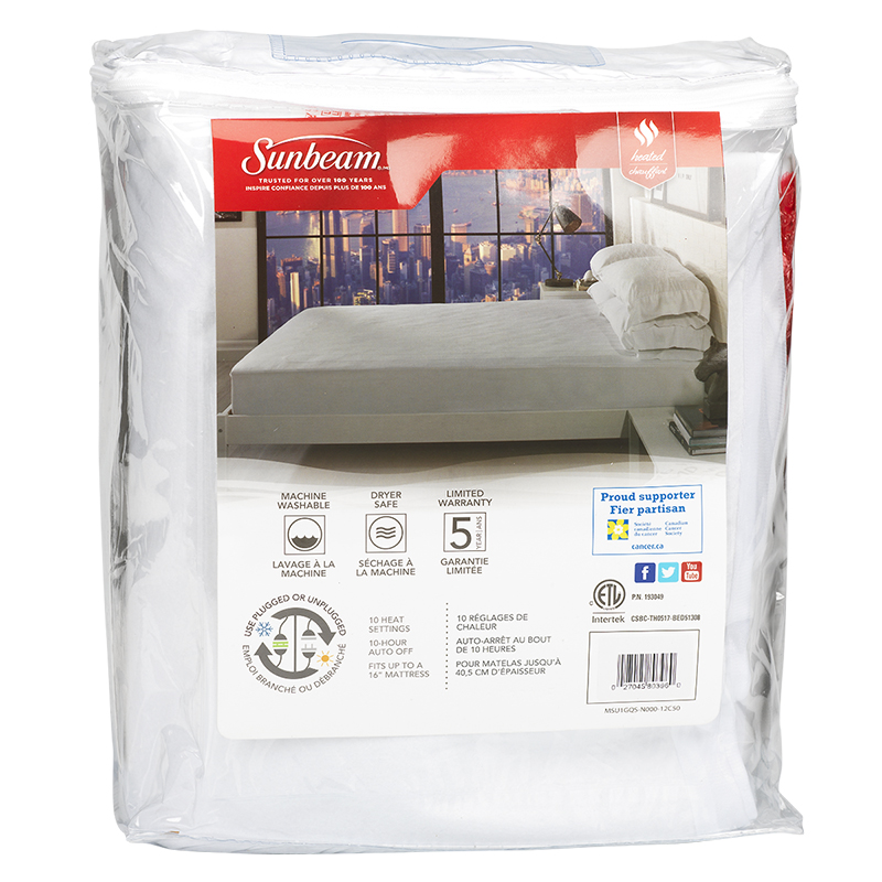 Sunbeam Heated Mattress Pad - Queen - MSU1GQS-N000-12C50