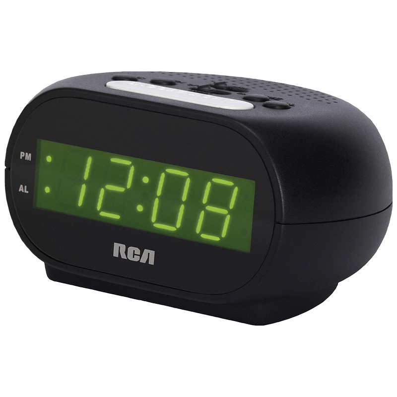 RCA Night Light Alarm Clock - Black - RCD20