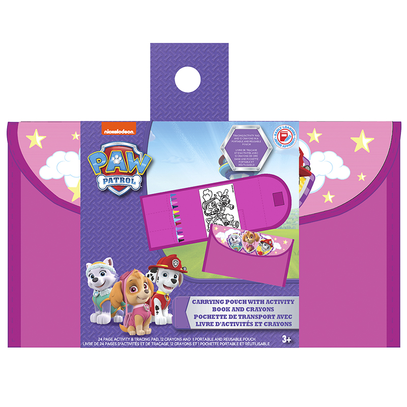 Paw Patrol Girl's Activity Set - Includes Pouch with Book and Crayons