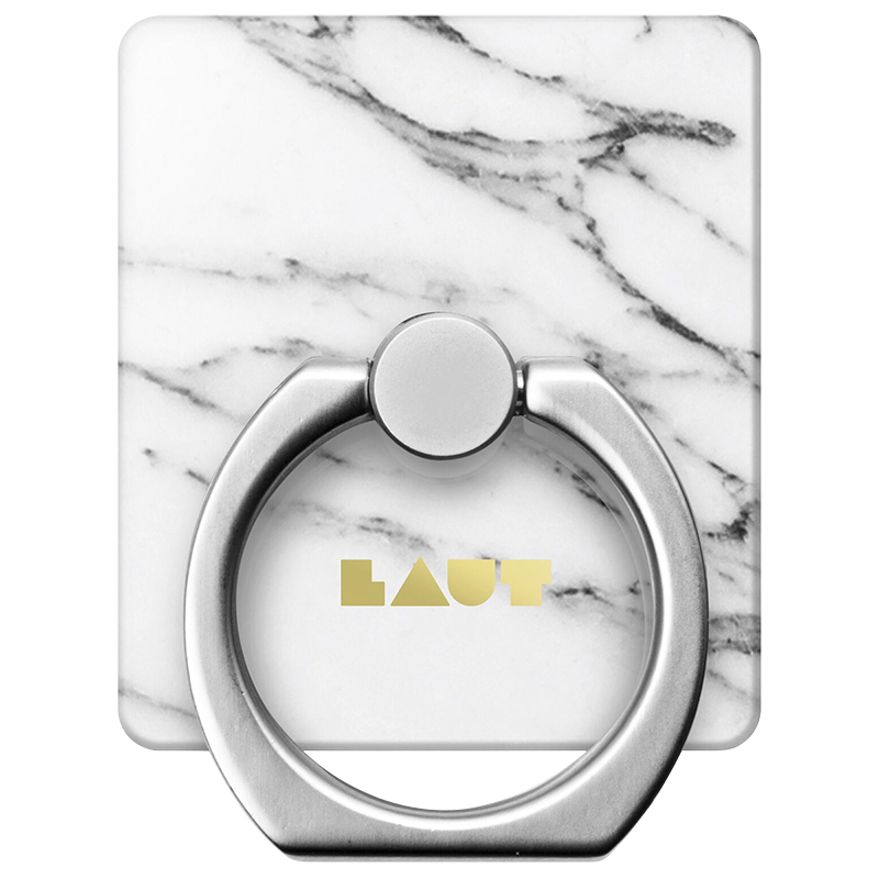 Laut Marble Ring Grip - White - LAUTRGHXEMW