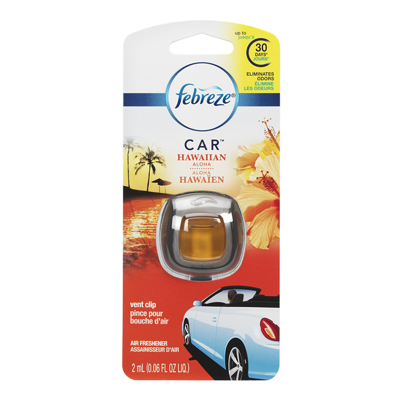Febreze Car Air Freshner Vent Clips - Hawaiian Aloha - 2ml